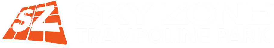 SKY ZONE white logo