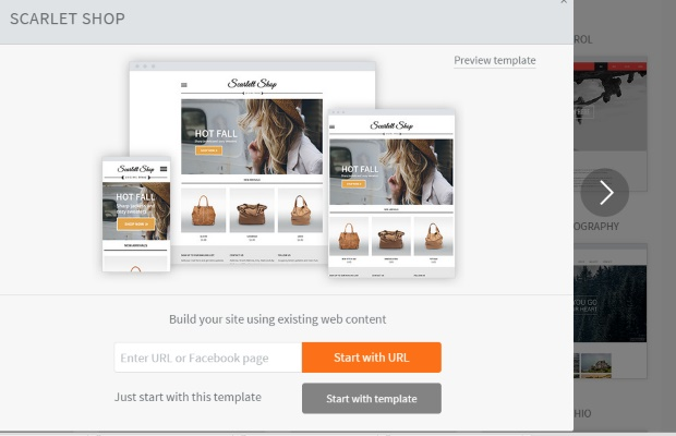 Duda-existing-content-builder