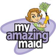 My Amazing Maid white logo