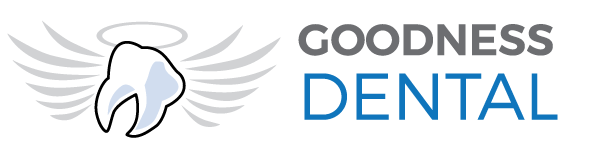 Goodness Dental white logo