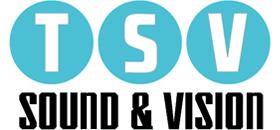 TSV Sound & Vision white logo