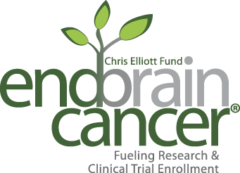 End Brain Cancer Initiative white logo
