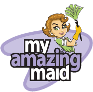 My Amazing Maid white logo