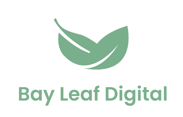 Bay Leaf Digital white logo